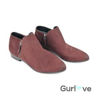 Franco Sarto burgundy Leather Kingston Booties 8.5